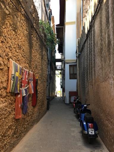 タンザニア、世界遺産、ザンジバルの裏路地