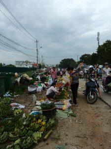 フエ市第一中央市場周辺、フエ市・ベトナム