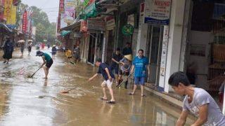 洪水のあと、フエ市