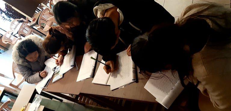 日本語クラス、ベトナム・フエ市