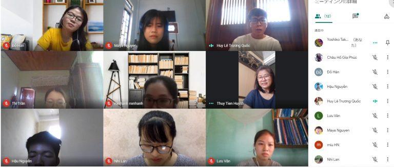 オンラインミーティング・フエ外国語大学と
