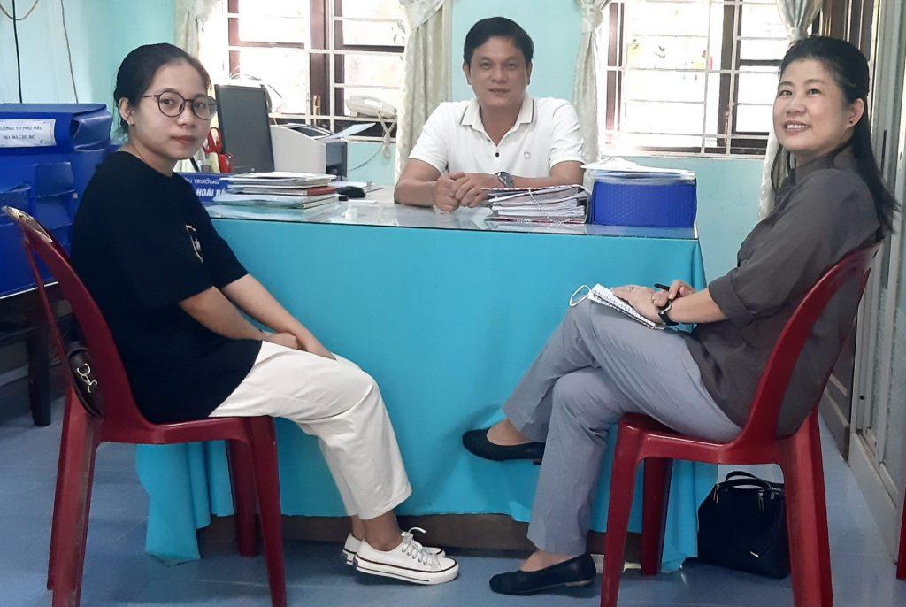 フーハウ小学校との打ち合わせ、フエ市・ベトナム